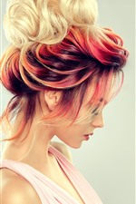 Preview iPhone wallpaper Fashion girl, hairstyle, colorful