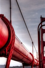 Preview iPhone wallpaper Golden Gate Bridge, red pipe