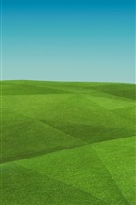 Preview iPhone wallpaper Green hills, field, creative picture