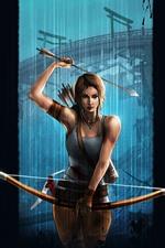 Lara Croft, Tomb Raider, arco, fundo preto