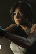 Preview iPhone wallpaper Lara Croft, gun, Tomb Raider