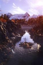Metro: Êxodo, árvores, montanhas, rio, outono