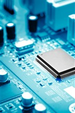 Preview iPhone wallpaper PC mainboard, electronic components