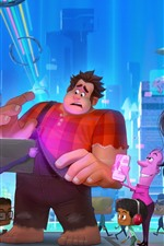 Preview iPhone wallpaper Ralph Breaks the Internet, Disney cartoon movie