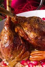 Preview iPhone wallpaper Roast chicken legs, food