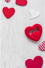 Preview iPhone wallpaper Some love hearts, gift, romantic