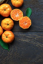 Preview iPhone wallpaper Some tangerines, citrus, fruit