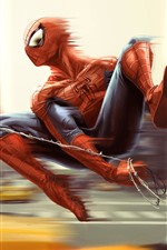 Preview iPhone wallpaper Spider-man, speed, anime