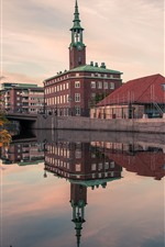 Preview iPhone wallpaper Sweden, Gothenburg, river, houses, city