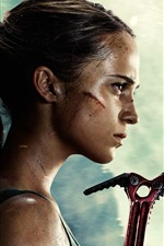 Preview iPhone wallpaper Tomb Raider, Lara Croft, movie