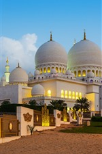 Preview iPhone wallpaper UAE, Abu Dhabi, dome palace, dusk