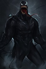 Preview iPhone wallpaper Venom, art picture, black background