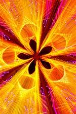 Flor abstrata, pétalas, curvas