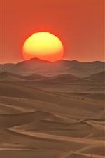 Preview iPhone wallpaper Abu Dhabi, barkhan, desert, sunset