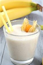 Preview iPhone wallpaper Banana, milk