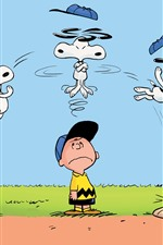 Preview iPhone wallpaper Charlie Brown, Snoopy, anime
