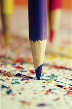 iPhone壁紙のプレビュー カラフルな鉛筆、破片
