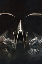Preview iPhone wallpaper Diablo 3, armor, horn, art picture