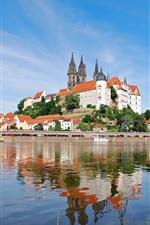 Elbe river, Saxony, Albrechtsburg castle, Germany