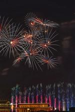 Fogos de artifício, como flores, Pequim, China