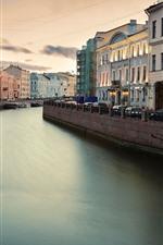 Preview iPhone wallpaper Fontanka, Saint Petersburg, Russia, river, city