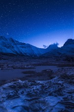 Preview iPhone wallpaper France, Alps, mountains, night, starry, sky, stars