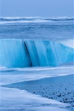Iceland, floe, ice, sea
