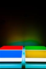 Vorschau des iPhone Hintergrundbilder Microsoft Logo, kreatives Design, Farben