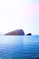 Preview iPhone wallpaper Montenegro, Budva, island, blue sea, beautiful nature landscape