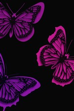 Purple butterflies, creative picture