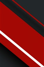 Preview iPhone wallpaper Red and black stripes, abstract picture