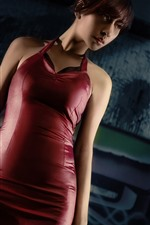 Preview iPhone wallpaper Resident Evil, short hair girl, gun