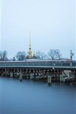 Preview iPhone wallpaper Saint Petersburg, bridge, river, city, Russia