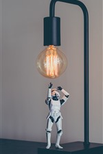 Preview iPhone wallpaper Stormtrooper, toy, Star Wars, lamp