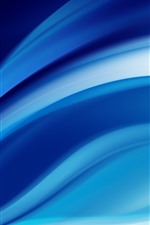 Preview iPhone wallpaper Abstract blue lines, curve