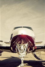 Preview iPhone wallpaper Airplane front view, propeller