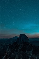 Preview iPhone wallpaper Beautiful night scenery, starry, mountains