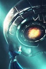 BioShock Infinite, garota, robô, imagem de arte