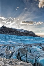 Preview iPhone wallpaper Blue ice, glacier, mountain