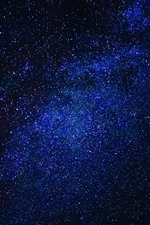 Preview iPhone wallpaper Blue starry, stars, space