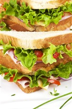 Preview iPhone wallpaper Breakfast, sandwich