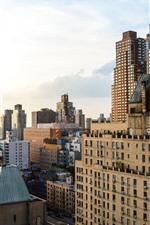 Preview iPhone wallpaper City, buildings, river