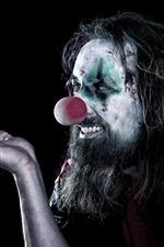 Clown, black background