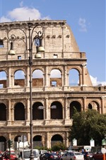 Preview iPhone wallpaper Colosseum, Rome, Italy, city, street