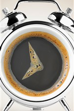 Preview iPhone wallpaper Creative picture, coffee, clock