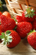 Delicious strawberries, basket
