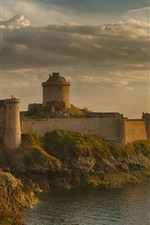 Preview iPhone wallpaper France, fortress, tower, sea