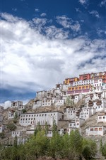 Preview iPhone wallpaper India, Buddhism, Thiksey Monastery