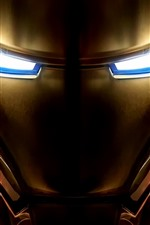 Preview iPhone wallpaper Iron Man, face, mask