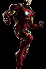 Preview iPhone wallpaper Iron Man, superhero, black background